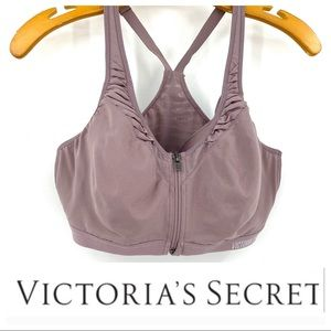 💕SALE💕 Victoria Sport Zip Lavender Gathered Bra